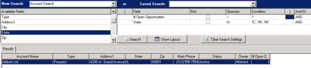Account Search