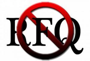 No RFQ